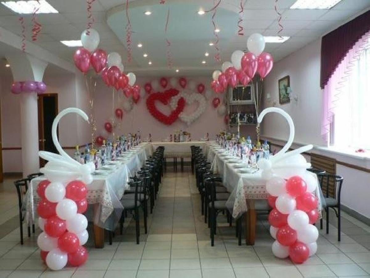 Украшение зала на свадьбу шарами фото цены своими руками